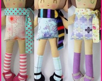 Posy Doll - Custom made doll one of a kind doll rag doll