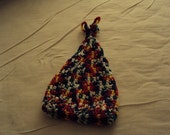Crochet Baby Cone Hat in Variegated Primary Colors
