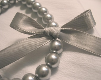 Made to Order Pearl and Ribbon bracelet Great for bridesmaids giftsets