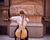 Inspiring artwork Photography boy cello youth performer street elegant musician stockholm symphony classical - Ingenue - fine art photograph