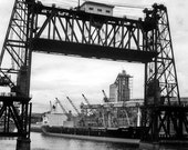RESERVED for dnye21 - Destination 16 x 24 signed Giclee gallery wrapped canvas photo industrial portland steel bridge Willamette River