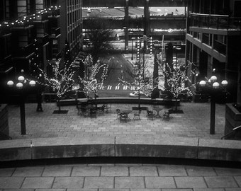 Seattle pikes place Photography pier 54 ferry coffee cup brew lights market mariners puget sound - Seattles best - fine art photograph