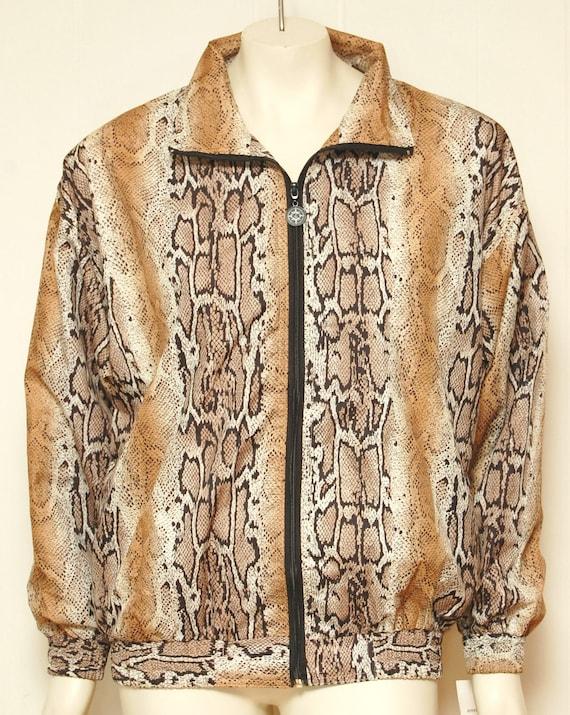 Vintage Snakeskin Zip Up Jacket- Size Medium
