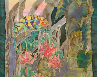 Panther Rainbow Chameleon in Eden Botanical