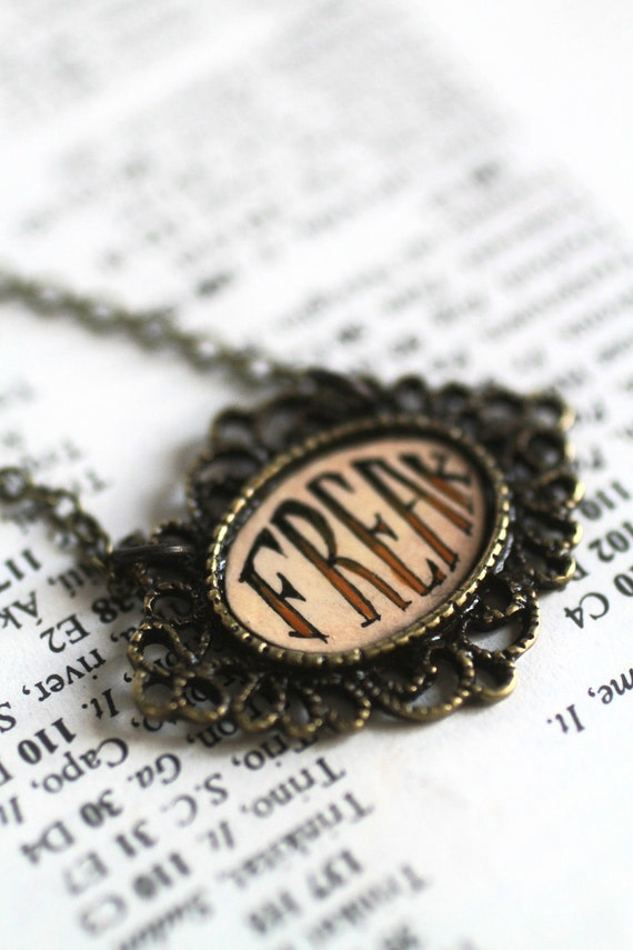 Freak - original cameo necklace by Mab Graves
