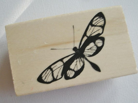 Butterfly Rubber Stamp Moth