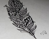 Custom Ink Drawing Black & White Commissioned Artwork GREAT TATTOO Designs