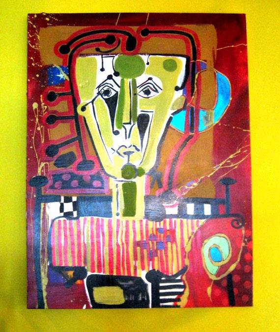 SALE Original Art Acrylic Painting 30 X 40