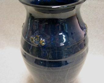 Midnight Blue Stoneware Vase