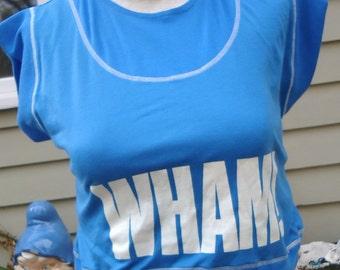 vintage tshirt WHAM 80's new wave GEORGE MICHAEL tour Deadpool
