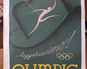 Vintage Italian Olympic Poster