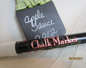 White-Chalkboard Markers- Chalk Pen-Bistro Chalk Marker for writing on Vinyl Chalkboard-Dry Erase Pen-Glass Marker