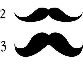 Mustache Face 23x8 Vinyl Decal Wall Lettering Words Quotes Art Custom SewCuteandMore