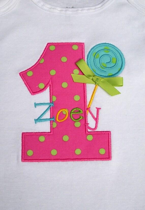 Girls' Birthday Lollipop Short Sleeve T-Shirt