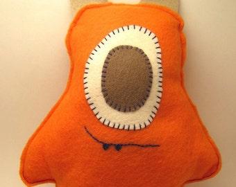 Stuffed cyclops toy sewn felt monster doll one eyed plush
