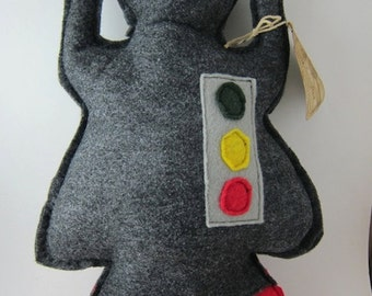 Felt robot monster toy stuffed robot doll