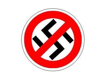 Anti-Nazi pinback button