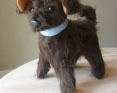 Scruffy Mutt - Fuzzy Dark Brown Stuffed Animal Dog