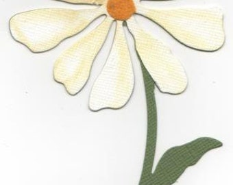 Nice Large Corner Daisy Flower Die Cuts - Bazzill Cardstock