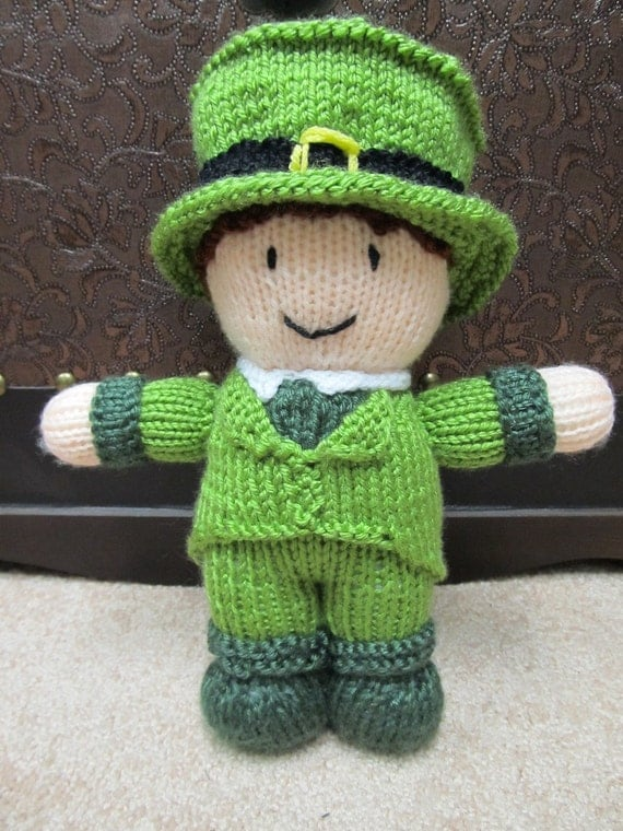 Lucky Leprechaun - knitted toy