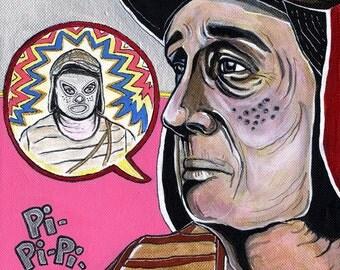 El Chavo Del Ocho Luchador Mexican Pop Art Print
