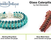 INSTRUCTIONS- Chainmaille Tutorial- Glass Caterpillar Bracelet 4pg.- Right-hand or Left-hand PDF