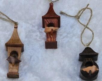 Ornament, Bird house, Bird House Ornaments - quantity 3