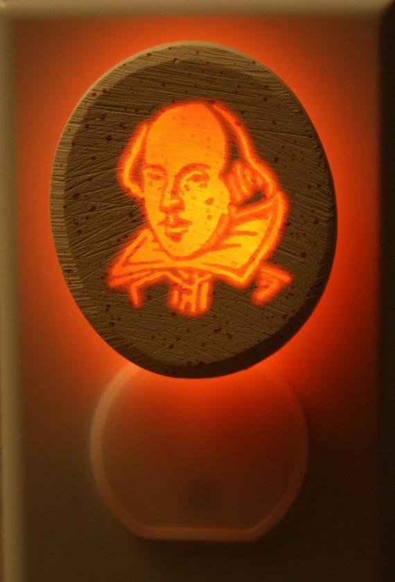 Shakespeare 1/3watt small NeonLithic Nightlight