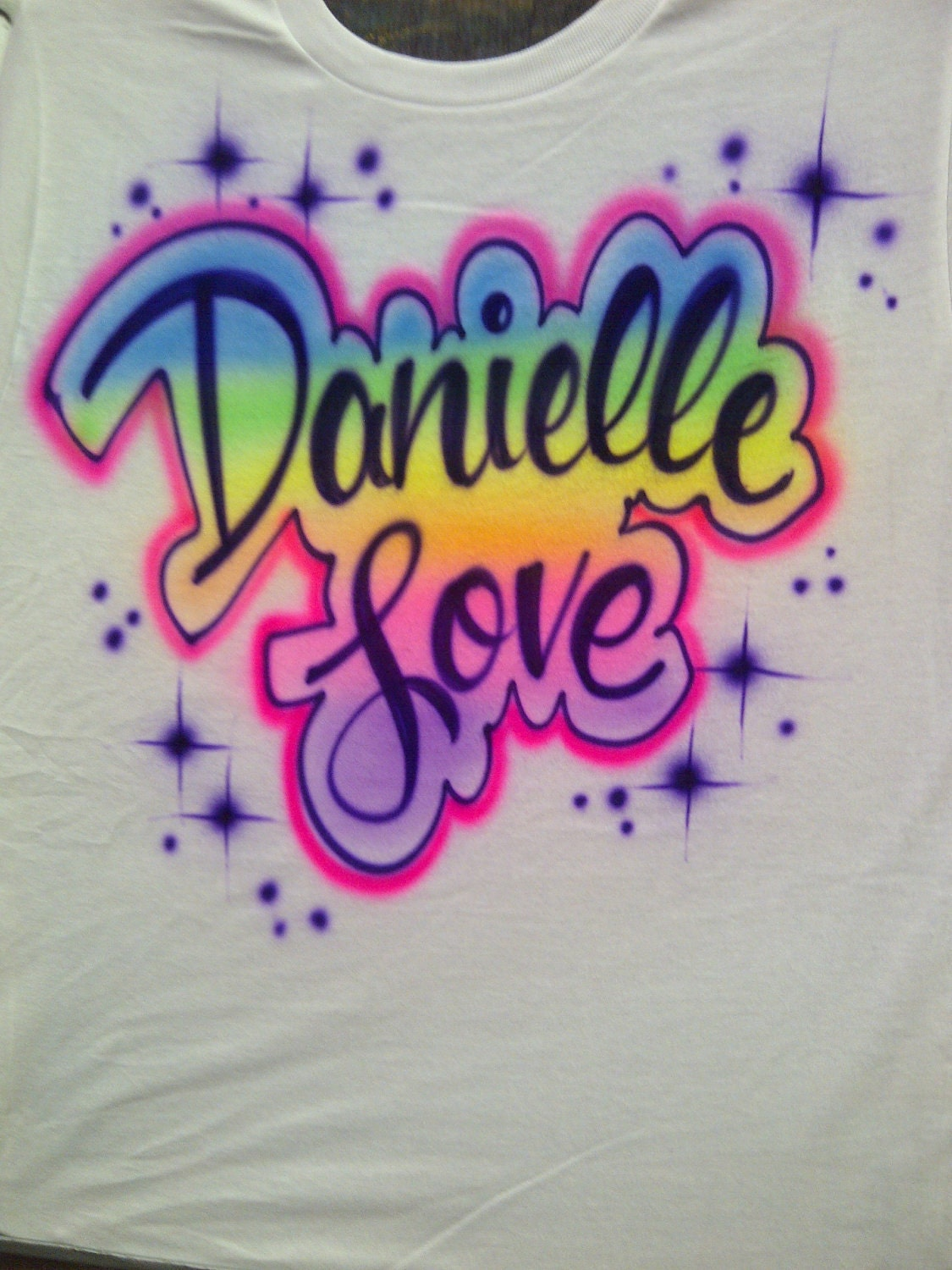 Fall Sale Airbrush Shirt W Up To 3 Names Or Words T Shirt