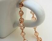 Golden Shadow Swarovski Bracelet on 12k Gold Filled