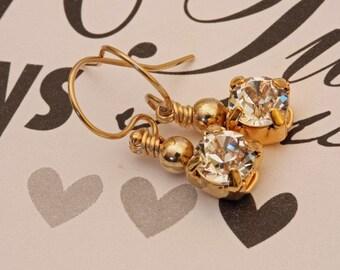Golden Little Stunner Swarovski Earrings