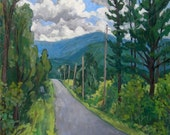 Oil Painting Landscape, Southward. Original Oil on Canvas, Impressionist Landscape Painting