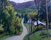 June Drizzle, Berkshires. Original 20x24 Oil Landscape Painting on Canvas, Large Plein Air Impressionist Fine Art, Signed Original Oil