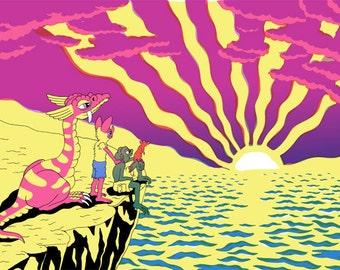 Sunrise: Silkscreen Print by Matt Furie