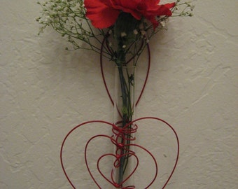 Window,Wall Plant Rooter Vase with Hearts