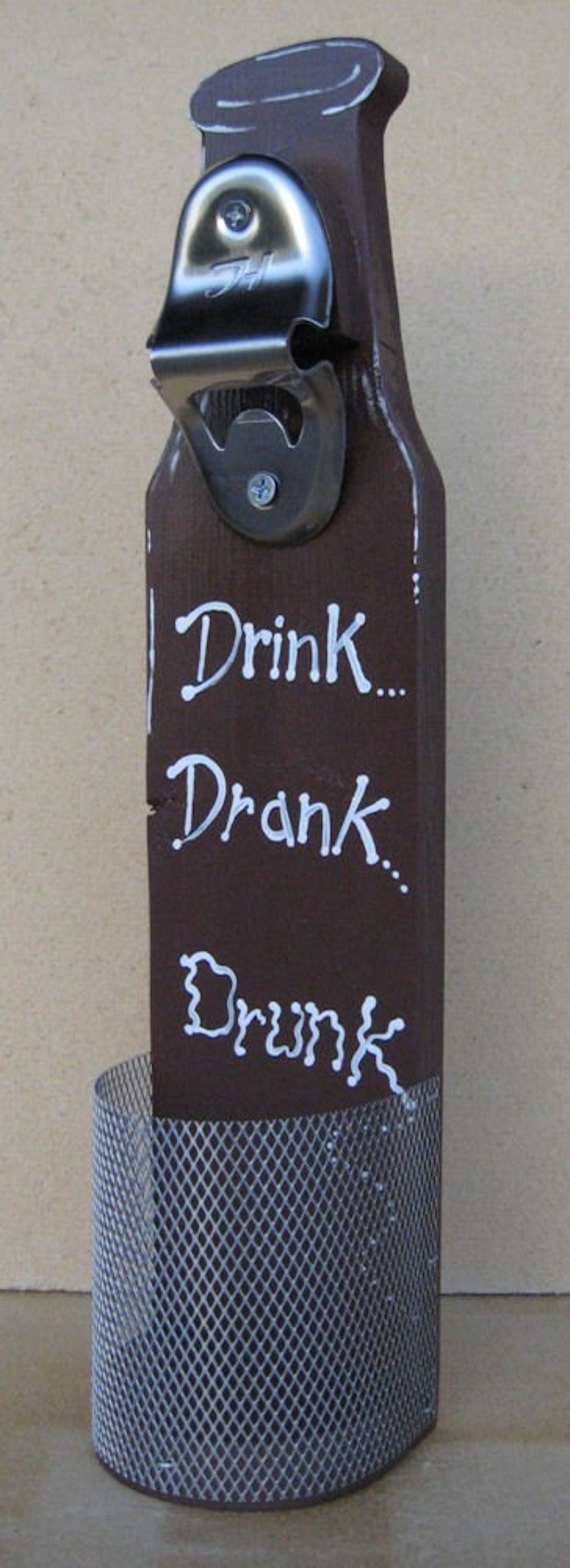 Wall mounted beer bottle opener with cap catcher - Wall mounted beer bottle opener cap catcher ...