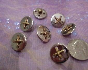Destash Supplies, Silver Button, Vintage Buttons, Round Buttons, Shank Buttons, Sewing Supplies, Designer Buttons, Art to Wear, Scrapbooking