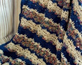 Taking Orders...New England Coast...New Seaside Inspired Crocheted Afghan...Best Seller