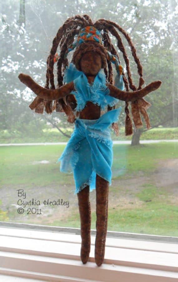 RESERVED... Island Art Doll - Island Beauties - Inspirational Art Dolls