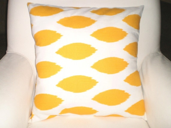 Yellow Pillow Covers Decorative Throw Pillows by FabricJunkie1640