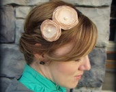 Handmade Flower Headband in Champagne for Adults, Women and Girls