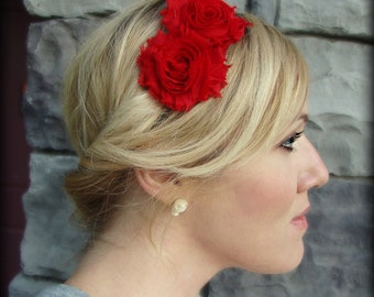 Red Headband for Women and Girls, Shabby Chic Style