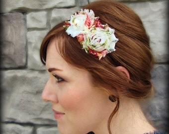 Floral Headband, Shabby Chic Flower for Girls and Women