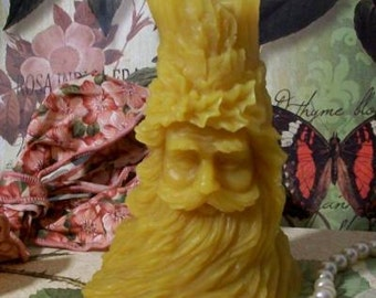 Beeswax Victorian Old Time Santa Candle