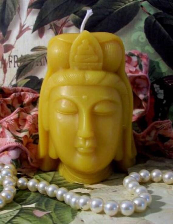 Beeswax Female Buddha Candle Tara Jetsun Dolma Buddhism