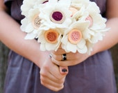 The Little Heather Wedding Bouquet - Felt Flower - Custom - Made to order