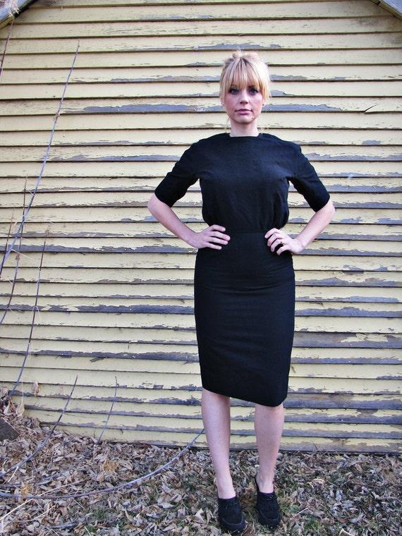 Black Wiggle Dress 1960s