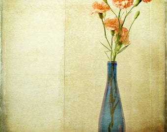 Pink Bottled Carnations Wall Art Photography 10x10