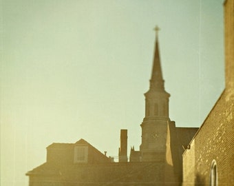 Charleston South Carolina Photography St. Michaels Steeple Cityscape 10x10
