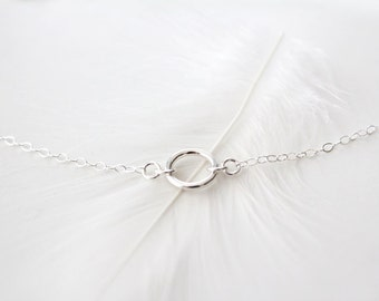 Sterling Silver Ring Necklace - Enduring - Silver